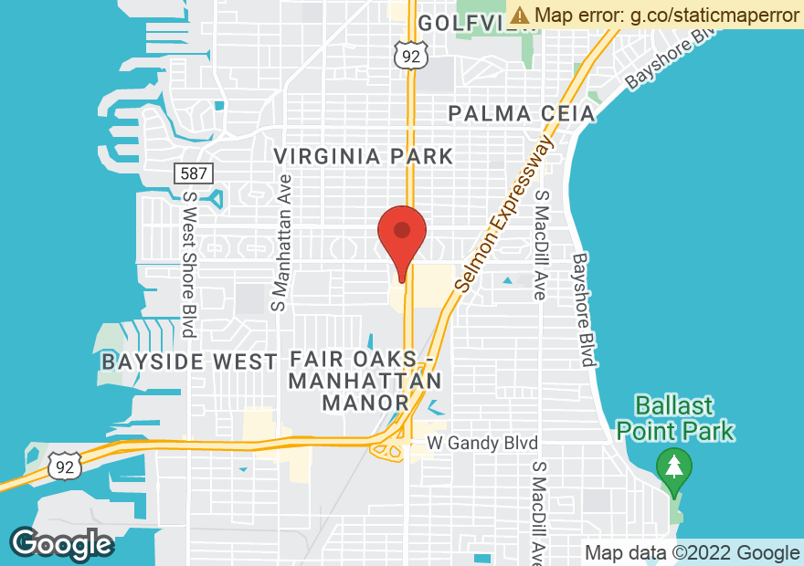 Google Map of 3863 S DALE MABRY HWY