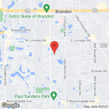 Map of BAYADA Assistive Care - State Programs at 1727 South Kings Avenue, Brandon, FL 33511