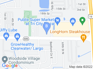 Map of Animal Medical Center Dog Boarding options in Clearwater | Boarding