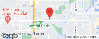 Map of 800 East Bay Dr in Largo