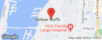 Mapa de 490 Indian Rocks Rd N en Belleair Bluffs