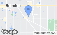 Map of Brandon, FL