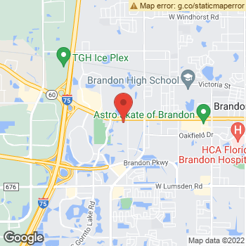Map of Drs. Kirkland, R. Pierce, Laskerr, J. Pierce, Cuva at 1929 W Brandon Blvd, Brandon, FL 33511