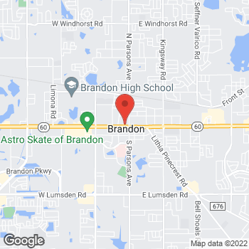 Map of Burger King at 114 West Brandon Blvd, Brandon, FL 33511