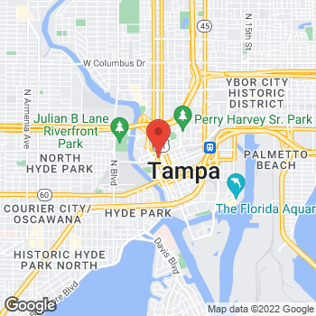 Map of Earl of Sandwich at 811 N. Tampa Street, Tampa, FL 33602