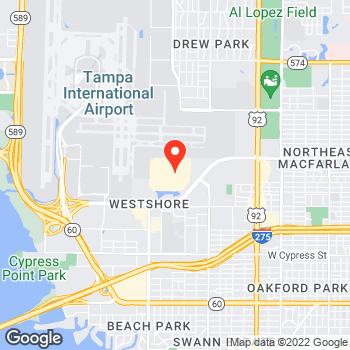Map of Ann Taylor at 2223 North West Shore Blvd, Tampa, FL 33607