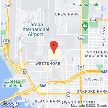 Map of Brio Italian Grille at 2223 N Westshore Blvd, Tampa, FL 33607