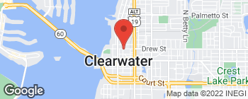 Map of 133 N Garden Ave in Clearwater