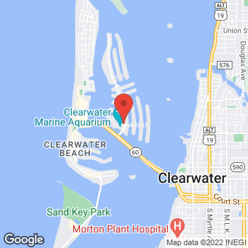 Map of Fifth Third Mortgage - William Webb at 100 Island Way, Clearwater, FL 33767-2216