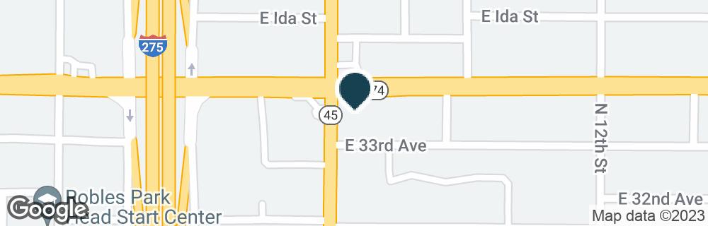 Google Map of3917 N NEBRASKA AVE