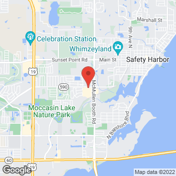 Map of Hair Cuttery - Closed at 1500 North Mcmullen Booth Rd Ste A15, Clearwater, FL 33759