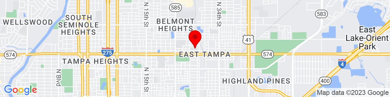 Google Map of 27.9828886, -82.42923119999999