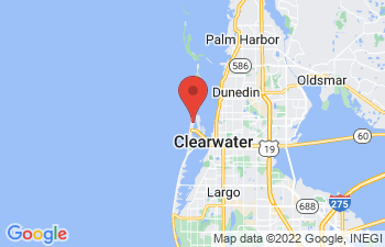 Map of Clearwater Beach