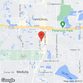 Map of Staples at 4313 South Florida Ave., Lakeland, FL 33813