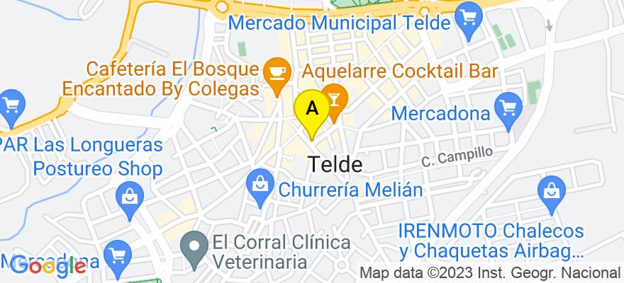 situacion en el mapa de . Direccion: La pelota 21 1ºE, 35001 Telde. Las Palmas