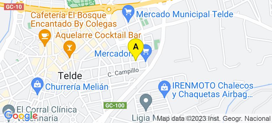situacion en el mapa de . Direccion: Calle Manuel García Oliva Concejal 4, 35200 Telde. Las Palmas