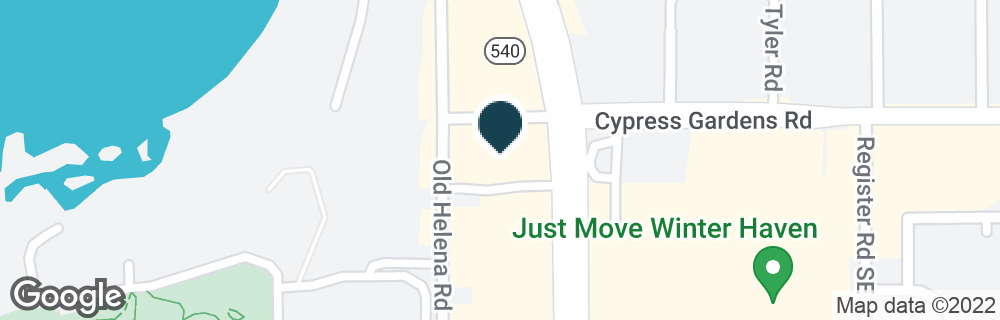 Google Map of5545 CYPRESS GARDENS BLVD