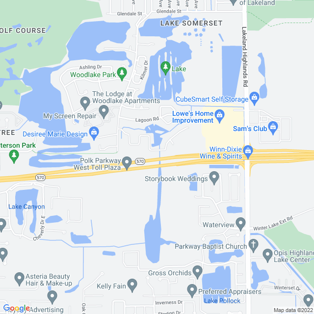 Map of Polk (SR 570) Parkway