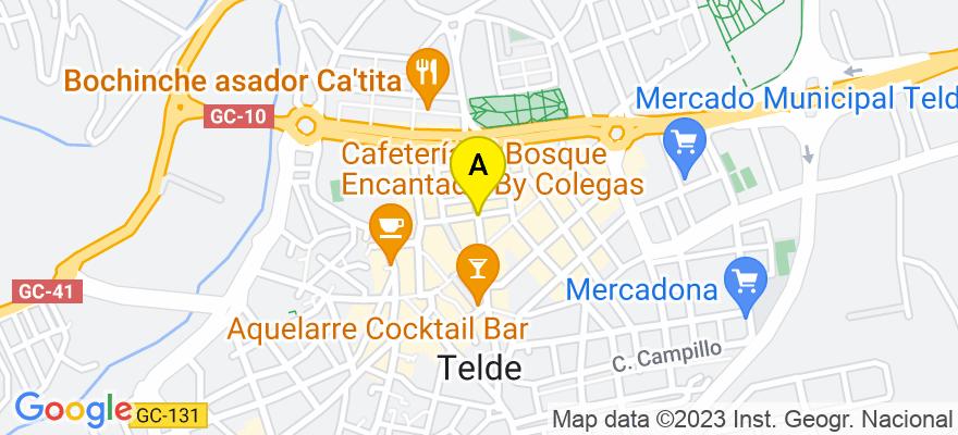 situacion en el mapa de . Direccion: Calle Poeta Fernando Gonzalez, 10, 35200 Telde. Las Palmas