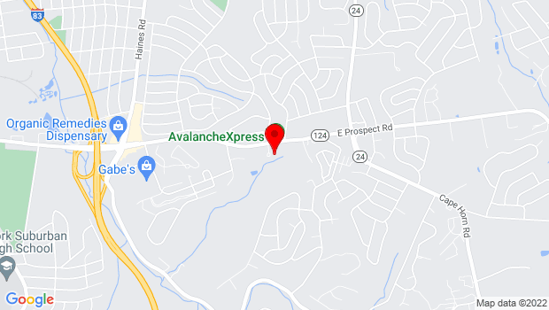 Google Map of 2700 Mount Rose Avenue  , York, PA 17402