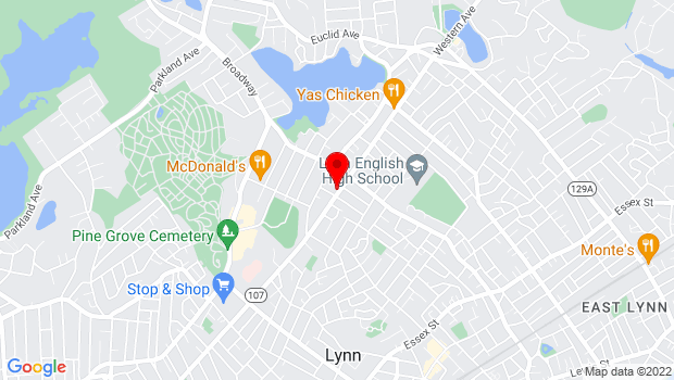 Google Map of 271 Western Ave, Lynn, MA
