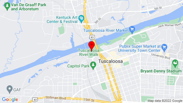 Google Map of 2710 Jack Warner Parkway, Tuscaloosa, AL 35401