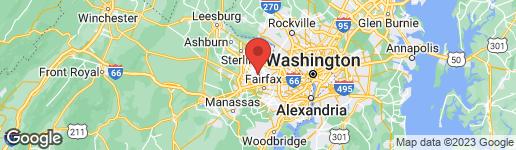 Map of 2710 CLARKES LANDING DRIVE OAKTON, VA 22124