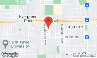 Map of 2714 West 97th Street EVERGREEN PARK, IL 60805