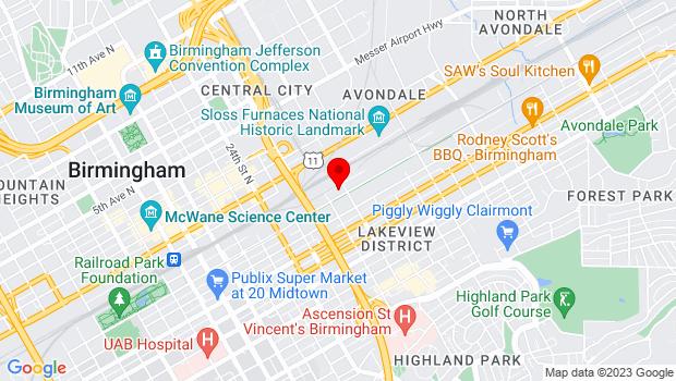 Google Map of 2726 1st Avenue South  , Birmingham, AL 35233
