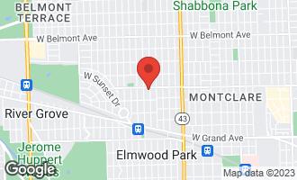 Map of 2738 North 74th Court #1 ELMWOOD PARK, IL 60707