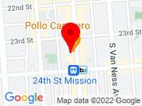 Google Map of 2740 Mission Street