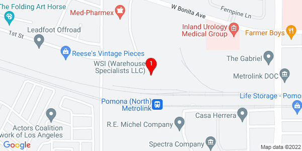 Google Map of 2743 Thompson Creek Road, Pomona CA  91767