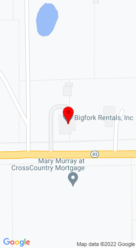 Google Map of Big Fork United Rental, Inc. 275 Hwy 83, Big Fork, MT, 59911
