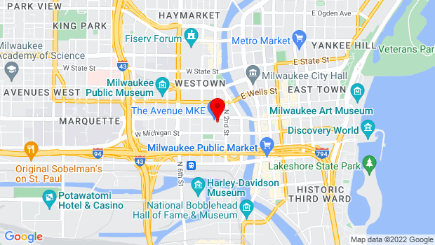 Google Map of 275 W. Wisconsin Ave., Milwaukee, WI 53203