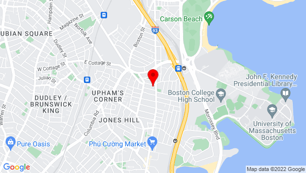 Google Map of 275 East Cottage Street, Boston, MA 02125