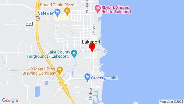 Google Map of 275 South Main St., Lakeport, CA 95453