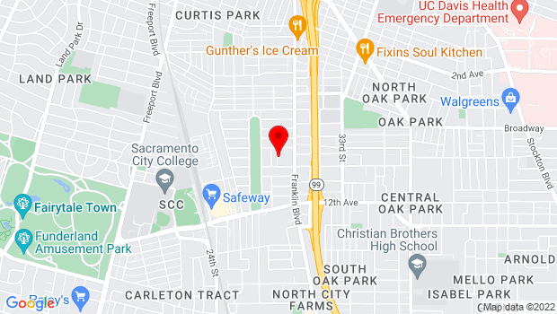 Google Map of 2751 9th Ave, Sacramento, CA 95818, Sacramento, CA 95818