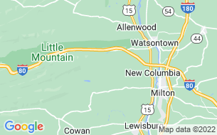 Map of Williamsport South/Nittany Mountain KOA Kampground
