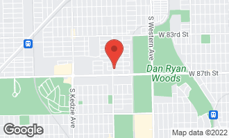 Map of 2756 West 86th Place CHICAGO, IL 60652