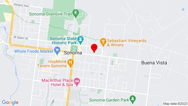 Google Map of 276 East Napa, Sonoma, CA 95476