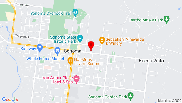 Google Map of 276 East Napa Street, Sonoma, CA 95476