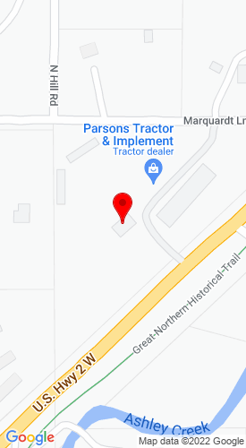 Google Map of Parsons Tractor & Implement Co Inc 2765 Us Hwy 2 W, Kalispell, MT, 59901