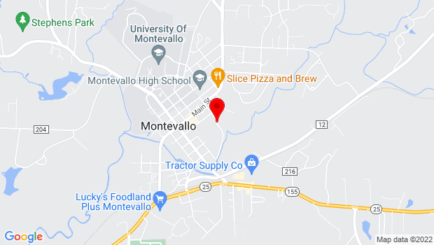 Google Map of 277 Park Road, Montevallo, AL 35115