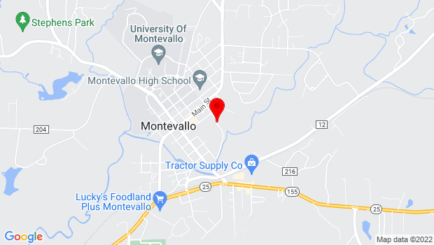 Google Map of 277 Park Road, Montevallo, AL 35115