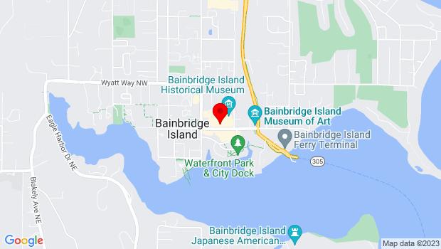 Google Map of 278 Winslow Way E, Suite 205, Bainbridge Island, WA 98110