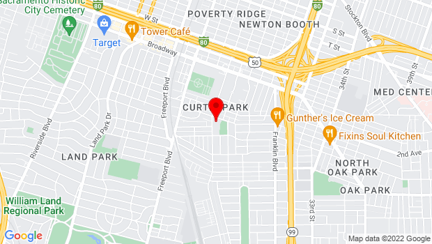 Google Map of 2791 24th Street , Sacramento, CA 95814