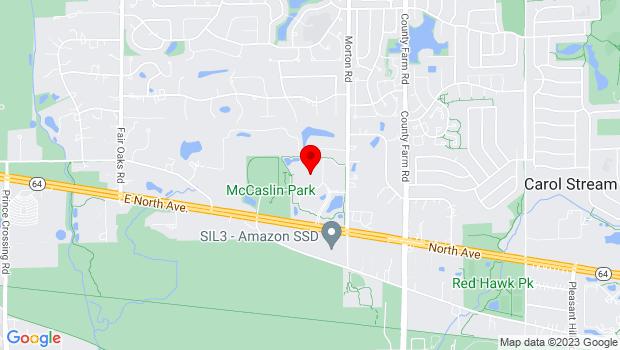 Google Map of 27W500 North Avenue, Oak Brook, IL 60185