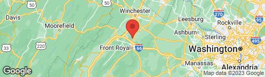 Map of 28 BOGEY COURT FRONT ROYAL, VA 22630