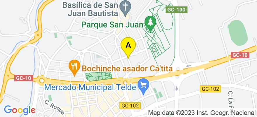 situacion en el mapa de . Direccion: C/ parroco hernández 23, 35200 Telde. Las Palmas