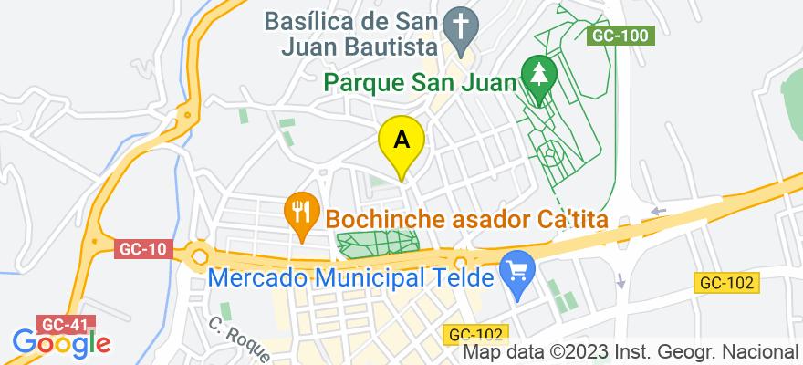 situacion en el mapa de . Direccion: C/ CIEGA, Nº 2- Bajo B., 35200 Telde. Las Palmas